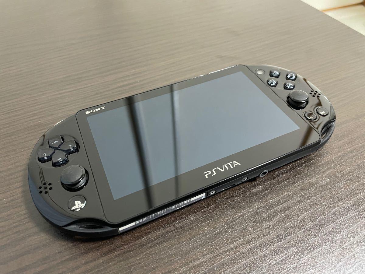 PS Vita PCH-2000 ブラック初期化済/ メモリーカード32Gフォーマット済/ソフト4本