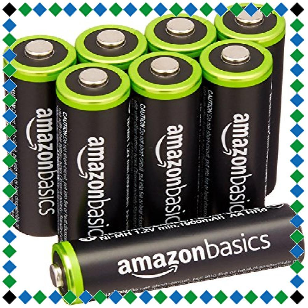 Amazonベーシック 充電池 充電式ニッケル水素電池 単3形8個セット (最小容量1900mAh、約1000回使用可能)_画像1
