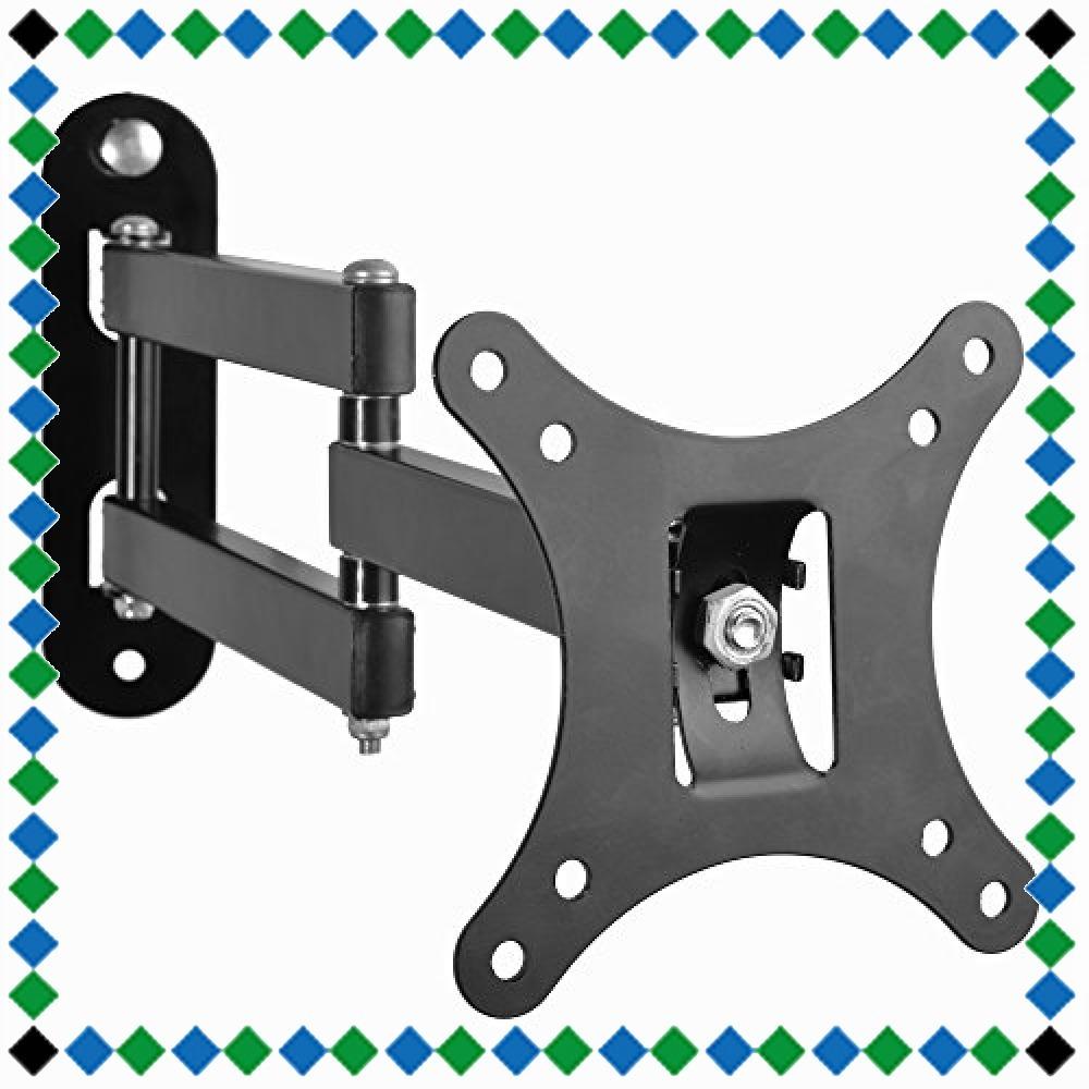 ブラック モニター テレビ壁掛け金具 10-30インチ LCDLED液晶テレビ対応 アーム式 回転式 左右移動式 角度調節 [並_画像1