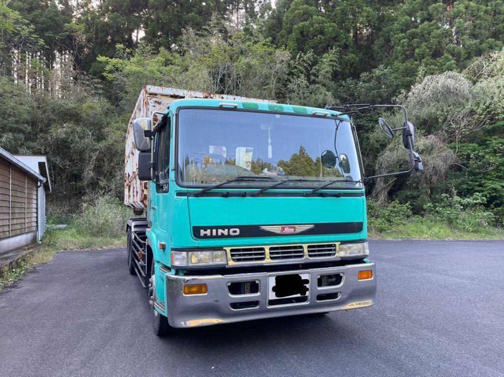 「平成7年 日野 V8 アームロール ダンプ 箱付き 車検あり」の画像1