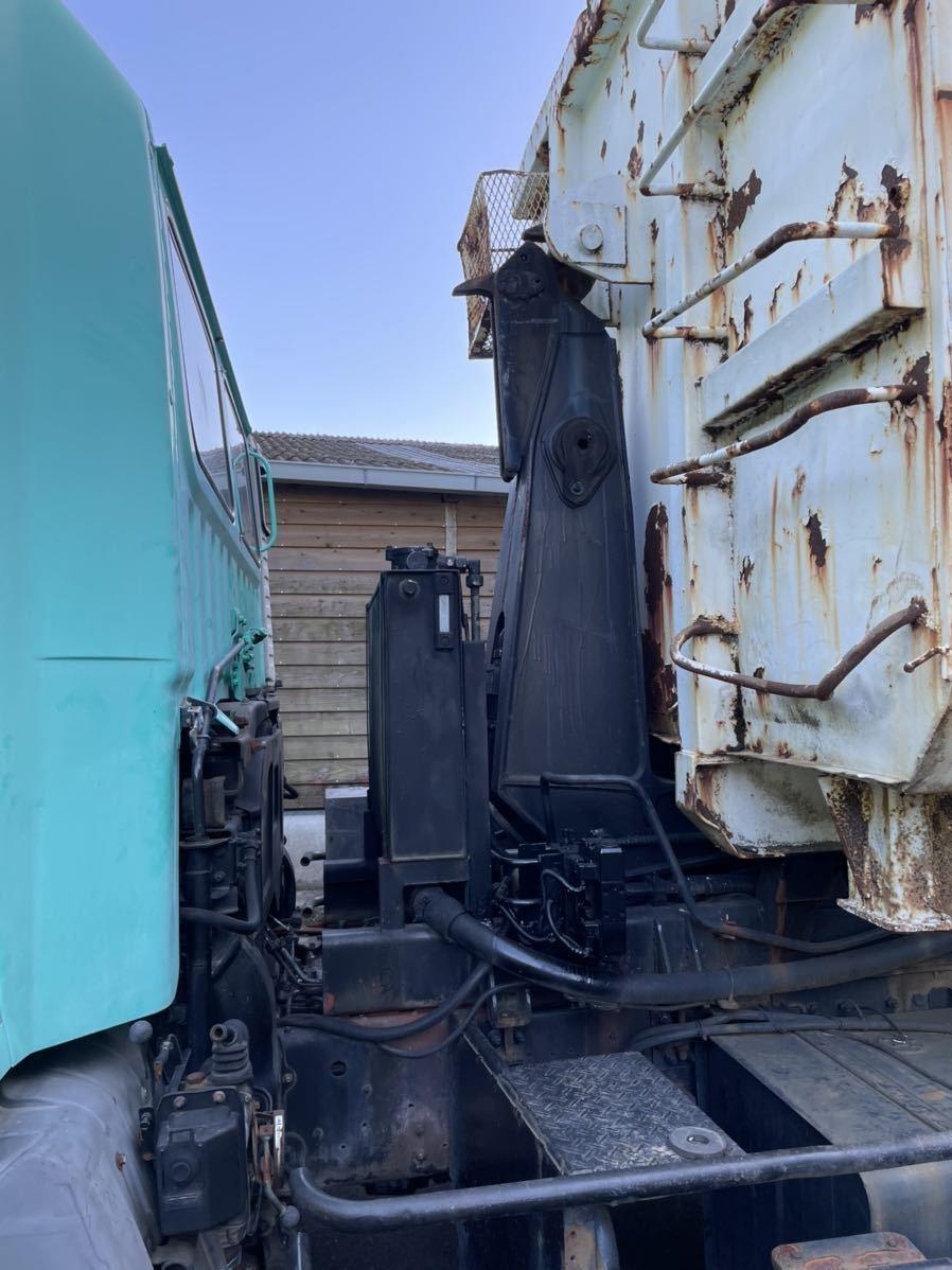 「平成7年 日野 V8 アームロール ダンプ 箱付き 車検あり」の画像3