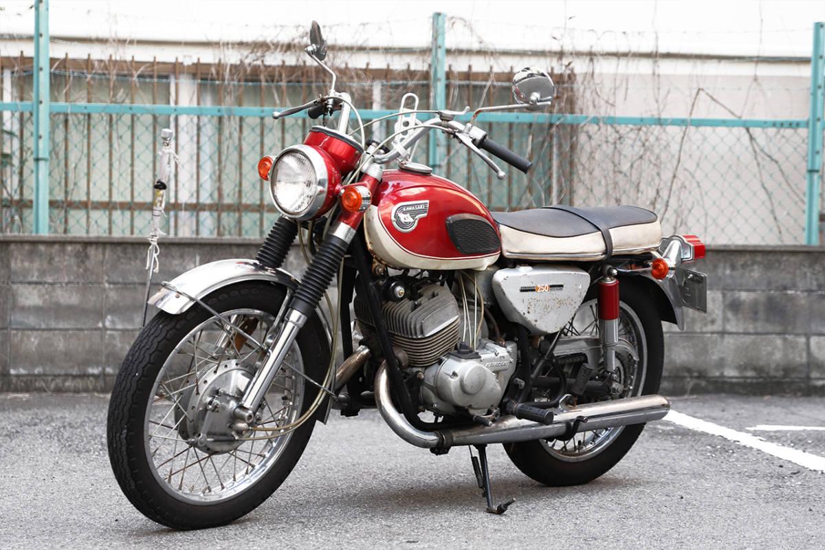 「好調 KAWASAKI 250A1 サムライ 初期型 各種整備済 A1SS 350 大阪から 750ss 500SS等好きにも」の画像1