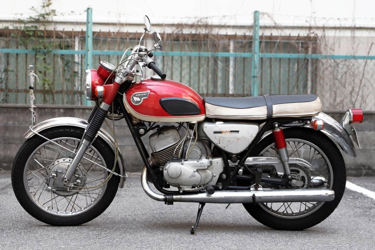 「好調 KAWASAKI 250A1 サムライ 初期型 各種整備済 A1SS 350 大阪から 750ss 500SS等好きにも」の画像2