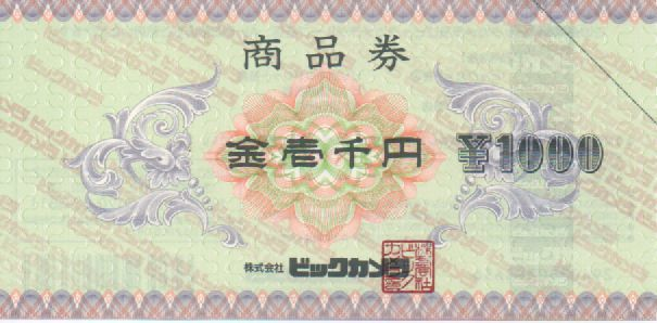 日本BS放送 株主優待券 ビックカメラ商品券 1000円分 コジマ ソフマップなど 有効期限なし、おつりあり、ポイントサービスあり_画像1