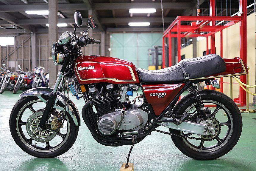 「極上!KZ1000MK2/ワインレッド/FCR33π/モナカ管/スイングアーム/カスタム多数/ブレーキ/ブレンボパーツ一式/コーションラベル付/1979年3月」の画像3