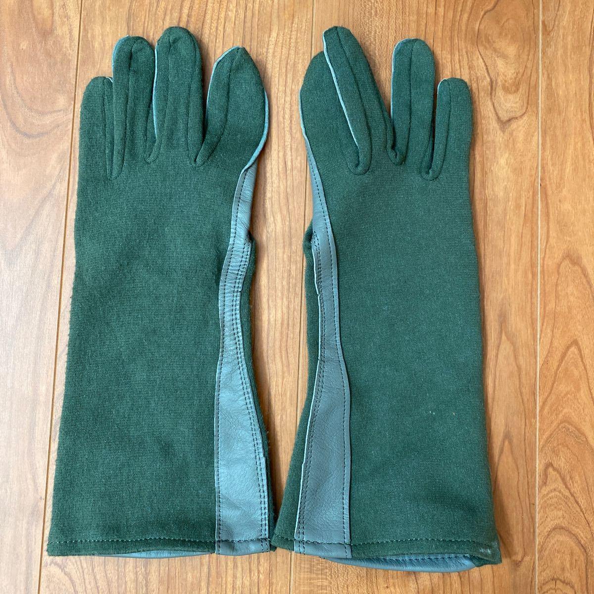 米軍実物 Nomex フライト サマー グローブ Gloves Flyers フライトギア レザーグローブ 手袋 ノーメックス 革手袋 ミリタリー パイロット_画像1