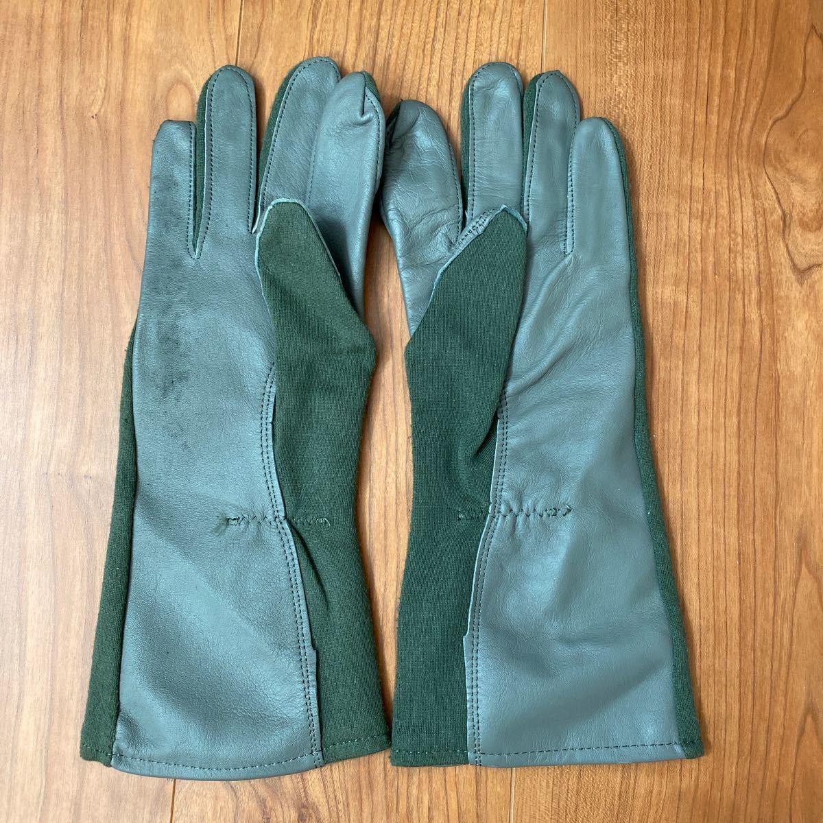 米軍実物 Nomex フライト サマー グローブ Gloves Flyers フライトギア レザーグローブ 手袋 ノーメックス 革手袋 ミリタリー パイロット_画像2