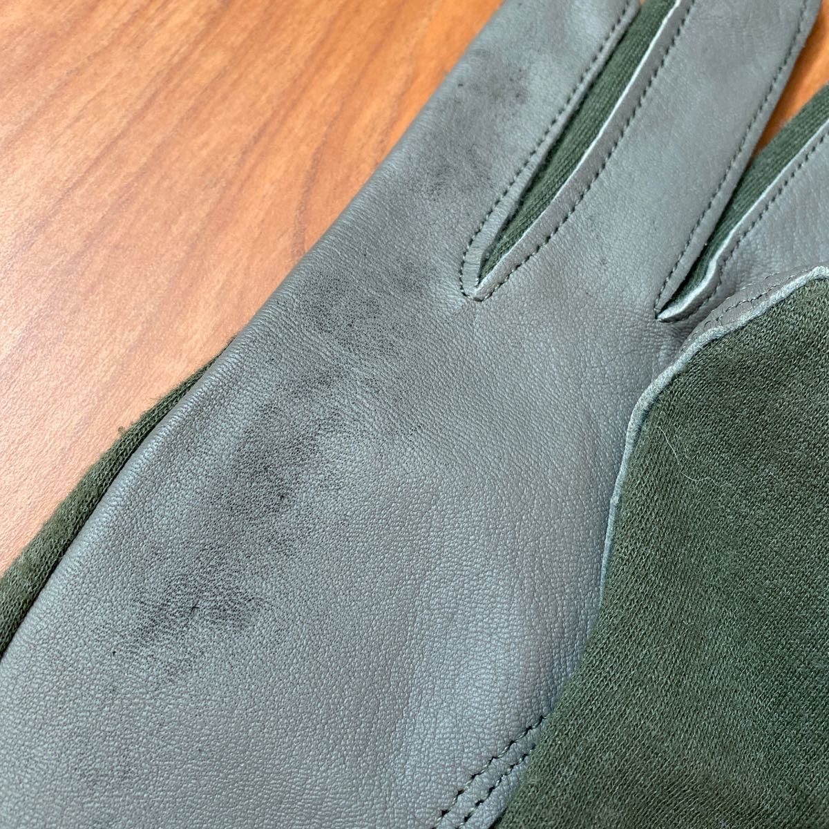 米軍実物 Nomex フライト サマー グローブ Gloves Flyers フライトギア レザーグローブ 手袋 ノーメックス 革手袋 ミリタリー パイロット_画像3