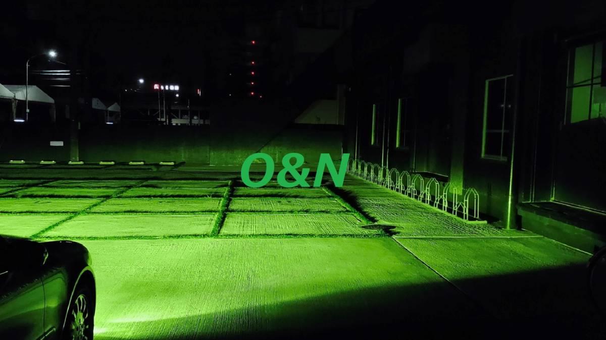 【G】O&N 爆光 SuperFineGreenYellow グリーンイエロー 4,100K 20,000LM 完璧なカットライン 拡散光無 H8 H9 H11 H16 HB4 MBエラー無し_フォグのみ