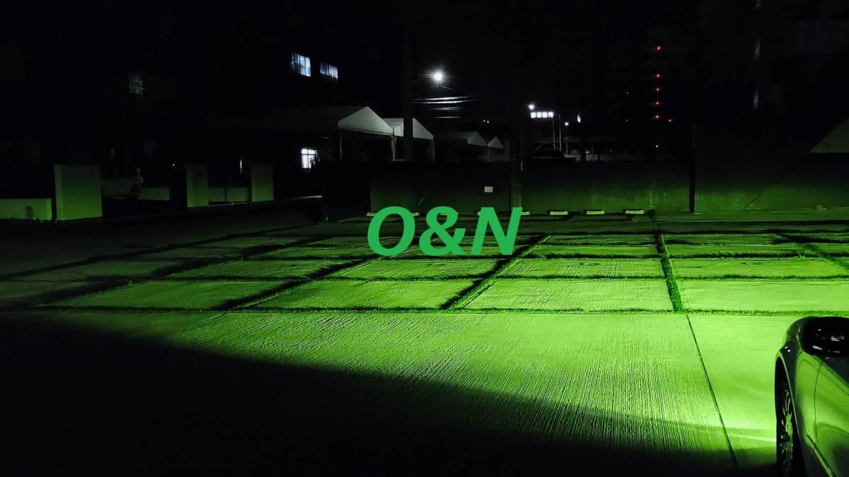 【G】O&N 爆光 SuperFineGreenYellow グリーンイエロー 4,100K 20,000LM 完璧なカットライン 拡散光無 H8 H9 H11 H16 HB4 MBエラー無し_非常に明るく死角無