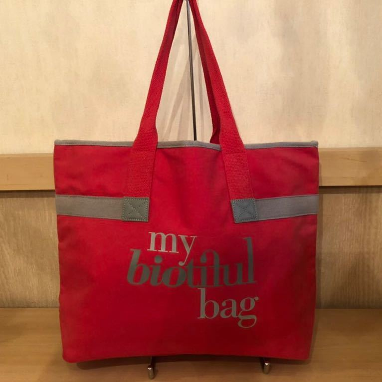 トートバッグ★my biotiful bag ★キャンバストートバッグ★オーガニックコットン使用★エコバッグ