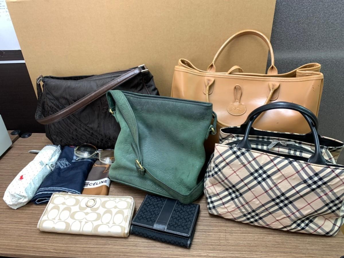 1円~■ブランド バッグ 財布 サングラス スカーフ 日傘 おまとめ 10点 バーバリー コー