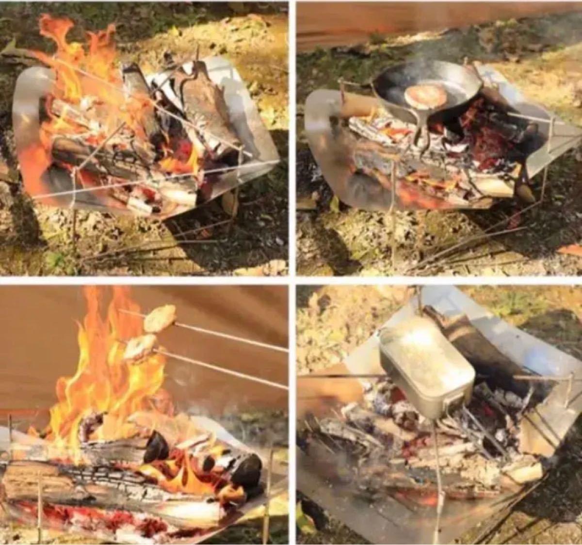 おまけの五徳付き!大型 焚火台 ピコグリル 760 類似品  バーベキューコンロ