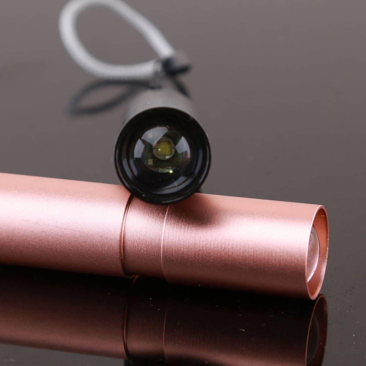 USB充電式 ポータブルライトミニ懐中電灯 led 強力小型ミニ ledライト フラッシュライト ハンディライト 軽量 IPX8防水 防災 ピンク