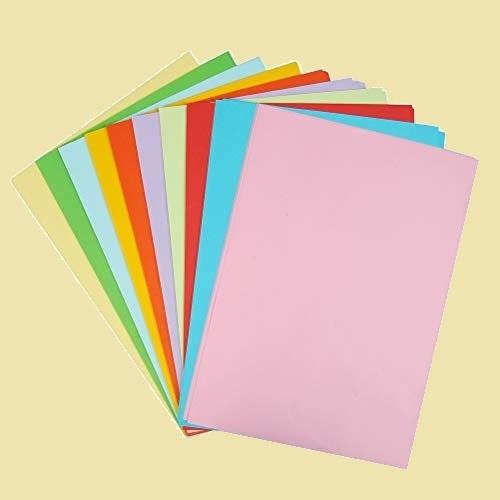 新品 未使用 カラ-コピ-用紙 Atpwonz 3-4Q プリンタ用紙 折り紙 100枚 A4サイズ カラ-ペ-パ- 選べる10色 70g/m2 コピ-用紙_画像1