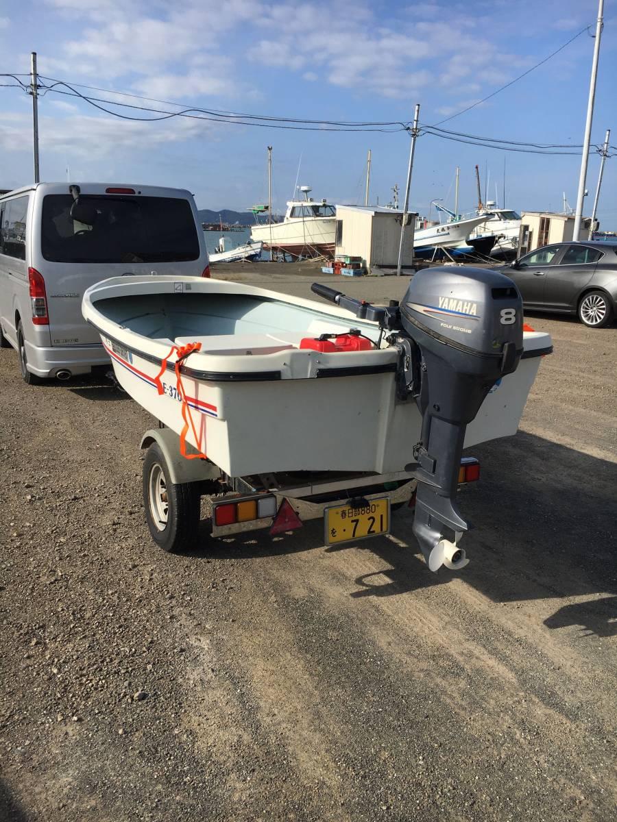 アカシ E370 ヤマハ8馬力ジャンク。千葉県館山市より引き取りのみ。_画像2