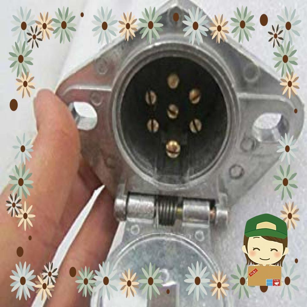 【特価】01 JSTwig 7極 トレーラー 7ピン 電極配線 接合カプラー コネクター ヒッチ ソケット セット トレーラープ_画像2