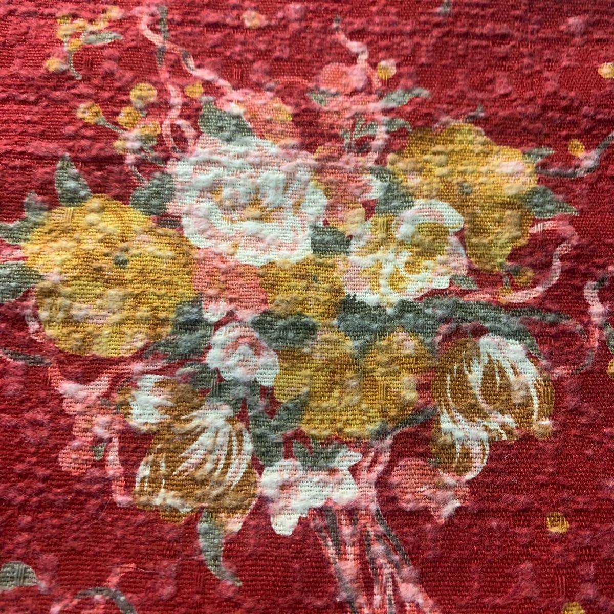生地 ハギレ 布 バラ 薔薇 花柄 50cm ビンテージローズ