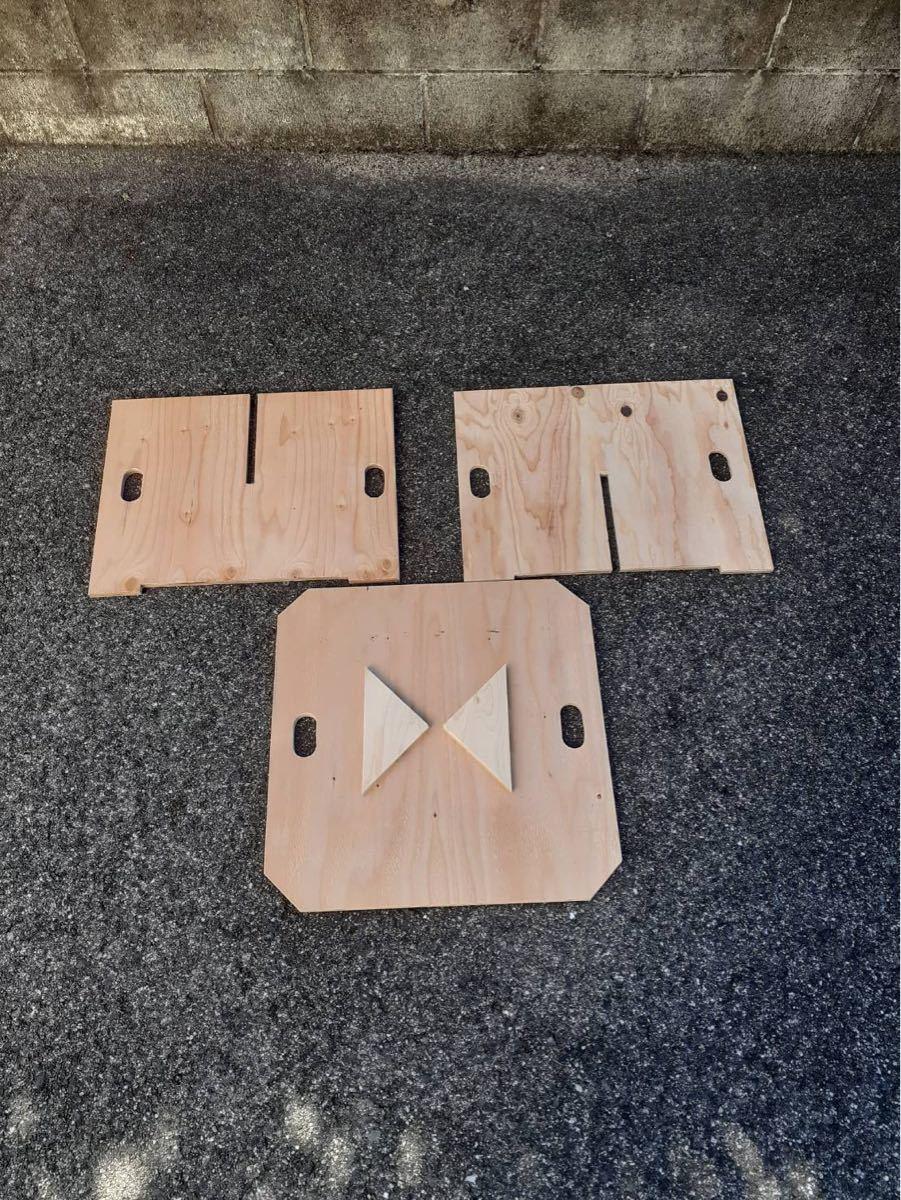 木製アウトドアテーブル/ミニテーブル