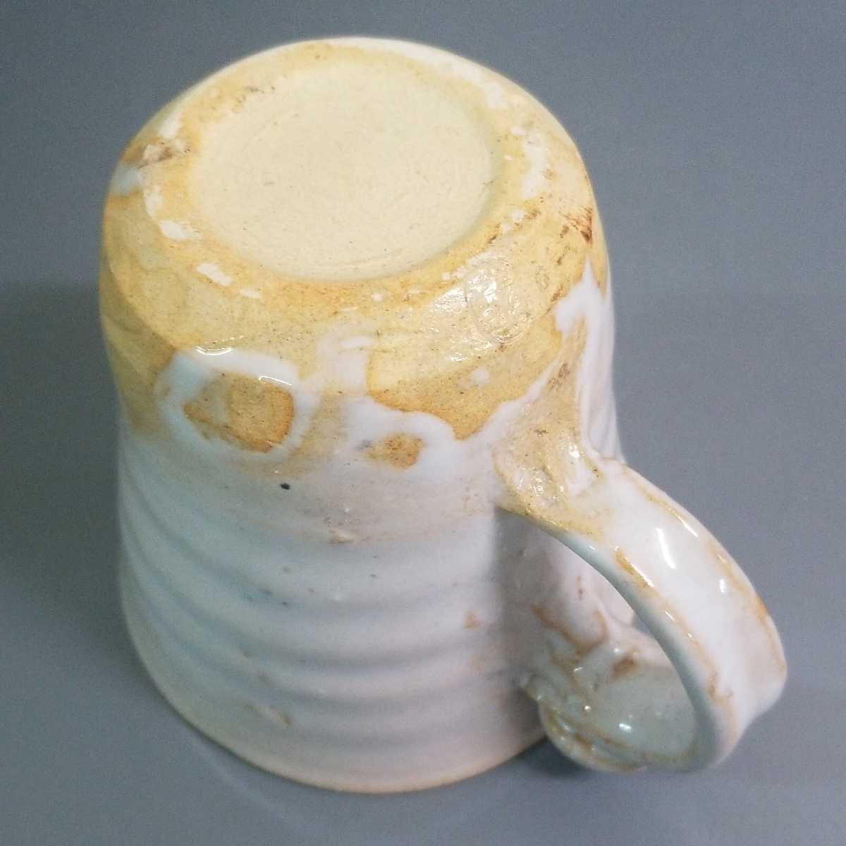 賜67)萩焼 渋谷泥詩 白萩マグカップ 珈琲器 茶器 未使用新品 同梱歓迎 _画像6