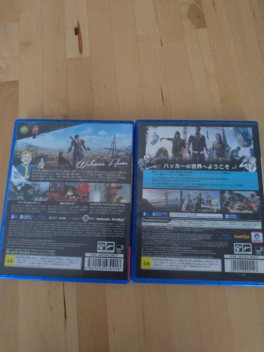PS4ソフト PS4 フォールアウト4 ウォッチドッグス2