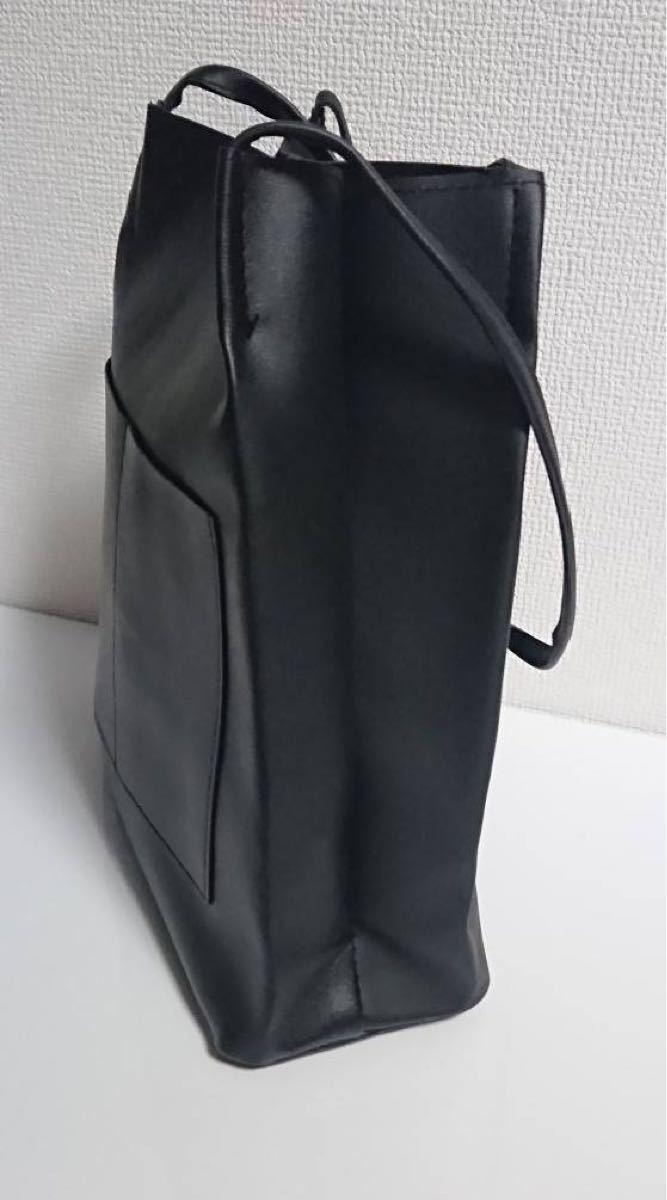 ショルダーバッグ トートバッグ レディースバッグ 大容量 肩掛け 手提げ PUレザー ユニセックス ビジネスバッグ ダブルポケット
