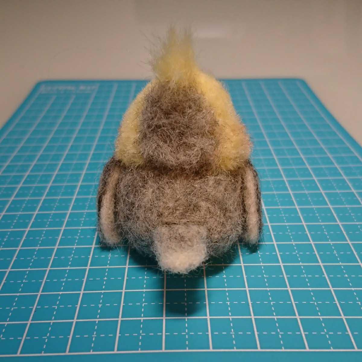 ハンドメイド オカメインコ 羊毛フェルト 鳥_画像5