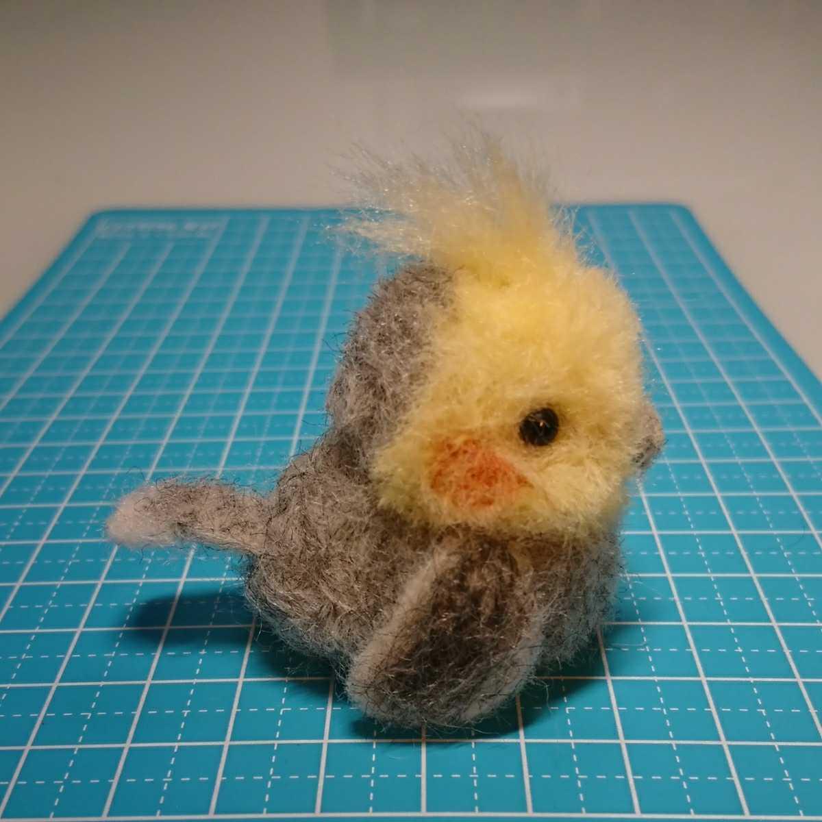 ハンドメイド オカメインコ 羊毛フェルト 鳥_画像6