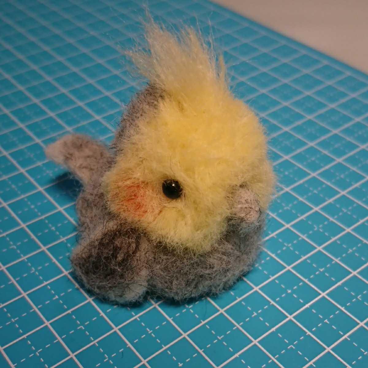ハンドメイド オカメインコ 羊毛フェルト 鳥_画像1