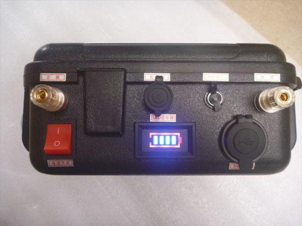 「C新品 ハンドル付リン酸鉄リチウムイオンバッテリー 12V 100Ah LiFePO4バッテリー 充電器付き 推進器、エレキ、太陽充電、キャンプなど」の画像2