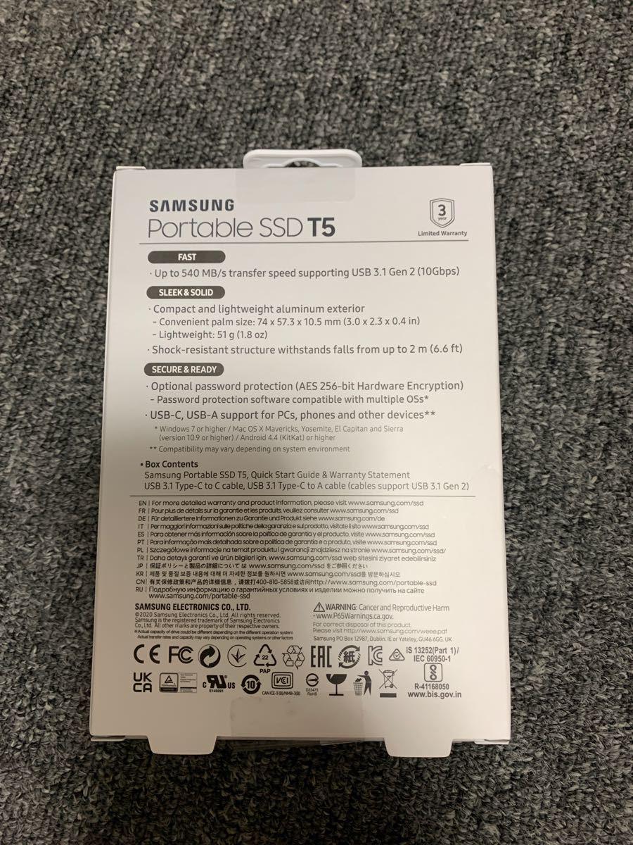 SAMSUNG 外付けSSD T5 1TB