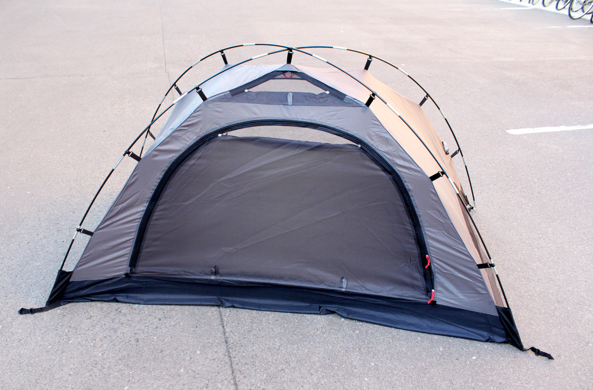 美品 Coleman/コールマン ツーリングドーム ST+ 1~2人用 ブラック グレー テント 2000036435 キャンプ アウトドア_画像2