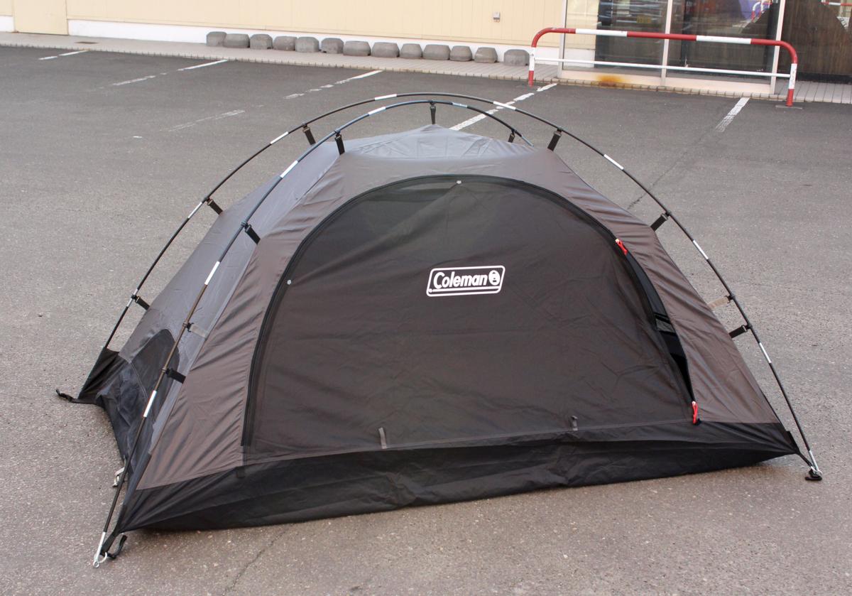 美品 Coleman/コールマン ツーリングドーム ST+ 1~2人用 ブラック グレー テント 2000036435 キャンプ アウトドア_画像1