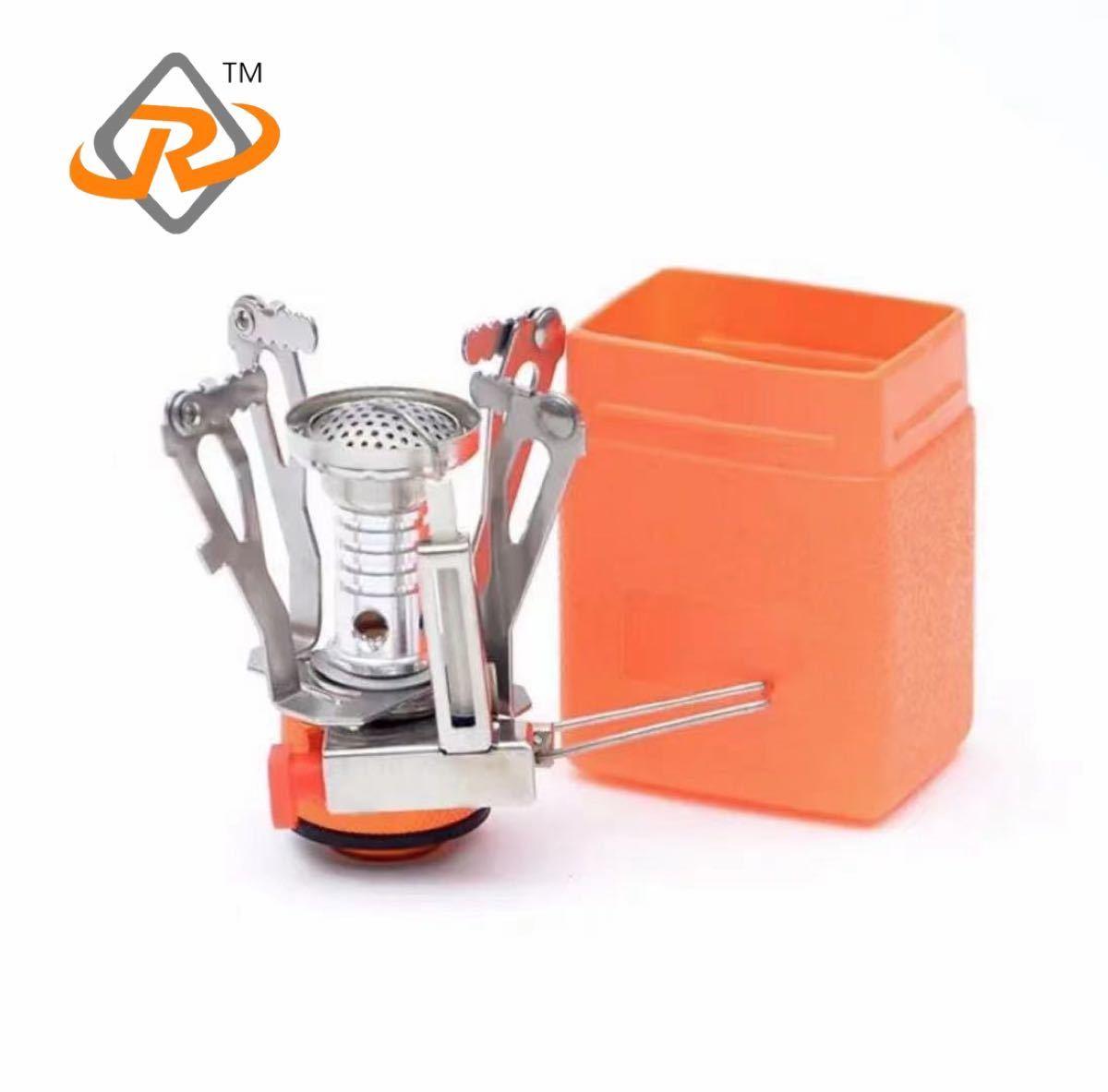 ミニ 超軽量 ガスコンロ シングルバーナー 折り畳み収納 OD缶対応 ガスストープ