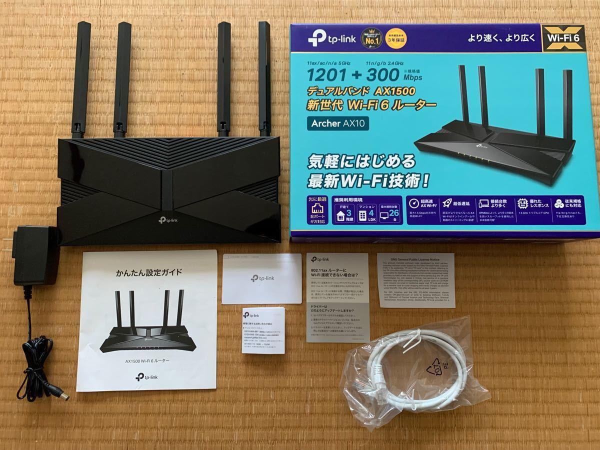 tp-link wi-fi無線LANルーター wi-fi6  Archer AX10
