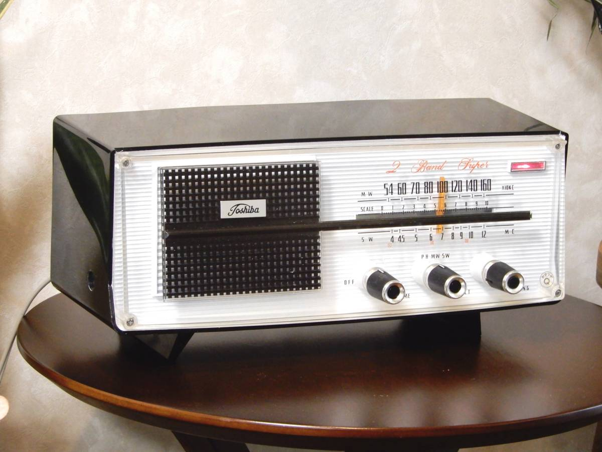 真空管ラジオ 東芝 5YC-606 カナリヤ Q 【整備済】