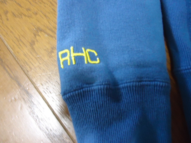 Mサイズ/RHC/Ron Hermanロンハーマン×Championチャンピオン/コラボ別注/プルオーバーパーカー/スウェット/トレーナー/ダメージ加工/ブルー_画像3