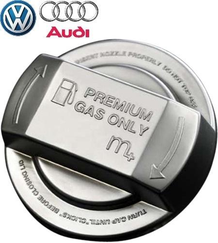【M's】各種 VW/m+ フューエルキャップカバー(クローム/クローム)//ゴルフ7 ゴルフ6 ゴルフ5 ゴルフ4 トゥーラン ティグアン シャラン_画像1