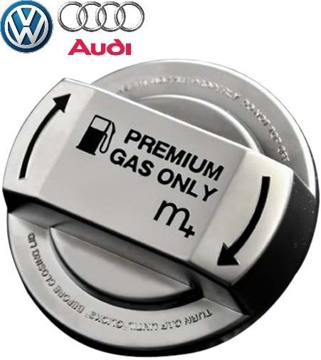 【M's】各種 VW/m+ フューエルキャップカバー(クローム/ブラック)//ゴルフ7 ゴルフ6 ゴルフ5 ゴルフ4 トゥーラン ティグアン シャラン_画像1