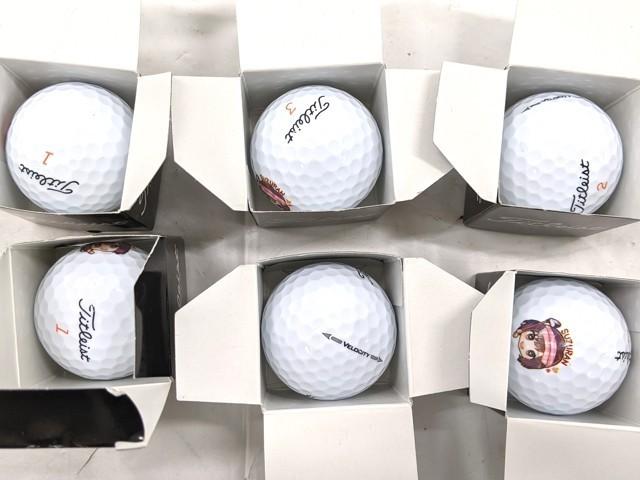 W71/ゴルフボール■タイトリスト SKE48 山内鈴蘭イラスト入りゴルフボール■未使用6個セット_画像2