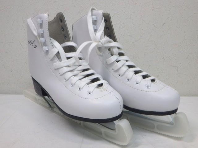e37 フィギュアスケートシューズ ZAIRAS ザイラス CRYSTAL2 ホワイト サイズ24.5cm_画像1