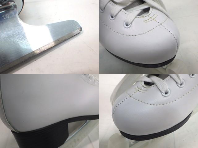 e37 フィギュアスケートシューズ ZAIRAS ザイラス CRYSTAL2 ホワイト サイズ24.5cm_画像5