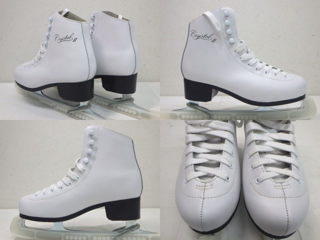 e37 フィギュアスケートシューズ ZAIRAS ザイラス CRYSTAL2 ホワイト サイズ24.5cm_画像2
