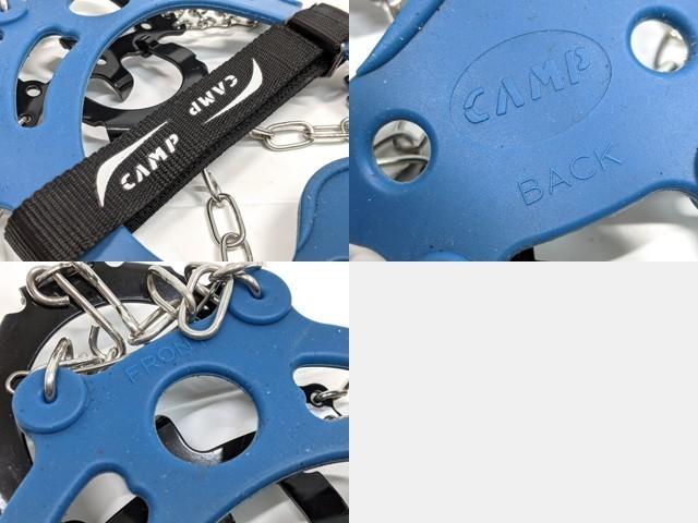 X34 登山 アウトドア用品 8本爪アイゼン CAMP アイスマスター ICE MASTER サイズXL(45/47)◆美品_画像6