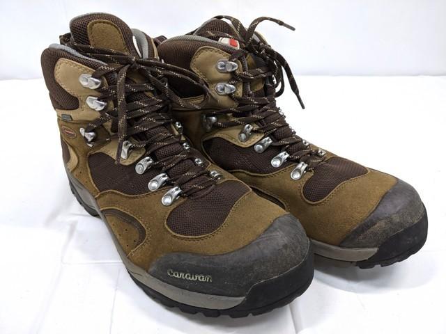 X40 登山靴 トレッキングシューズ Caravan キャラバン ブラウン サイズ:27.5cm EEE_画像1
