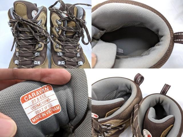X40 登山靴 トレッキングシューズ Caravan キャラバン ブラウン サイズ:27.5cm EEE_画像3
