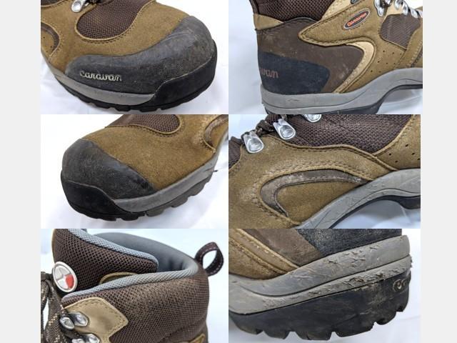 X40 登山靴 トレッキングシューズ Caravan キャラバン ブラウン サイズ:27.5cm EEE_画像5