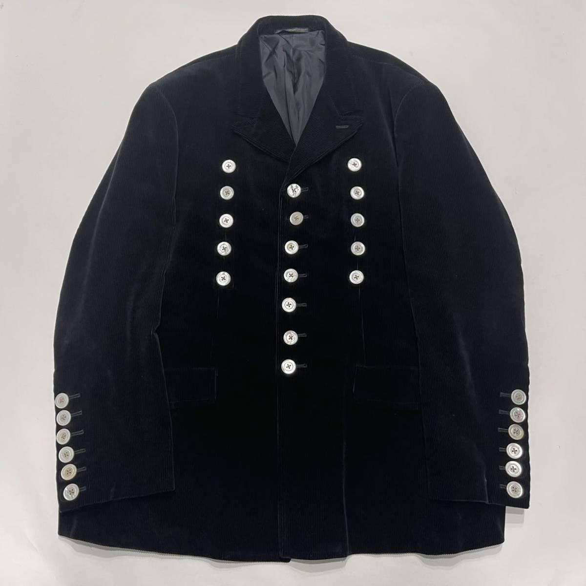 希少 96aw yohji yamamoto pour homme コーデュロイ ジャケット シェルボタン ジャケット