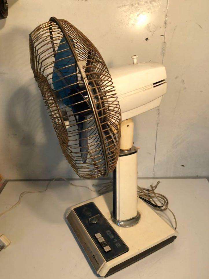 日立 HITACHI H-638型 OS12 さわ風 昭和レトロ レトロ扇風機 当時物 貴重 アンティーク 動作確認済み 現状販売 U-594_画像3
