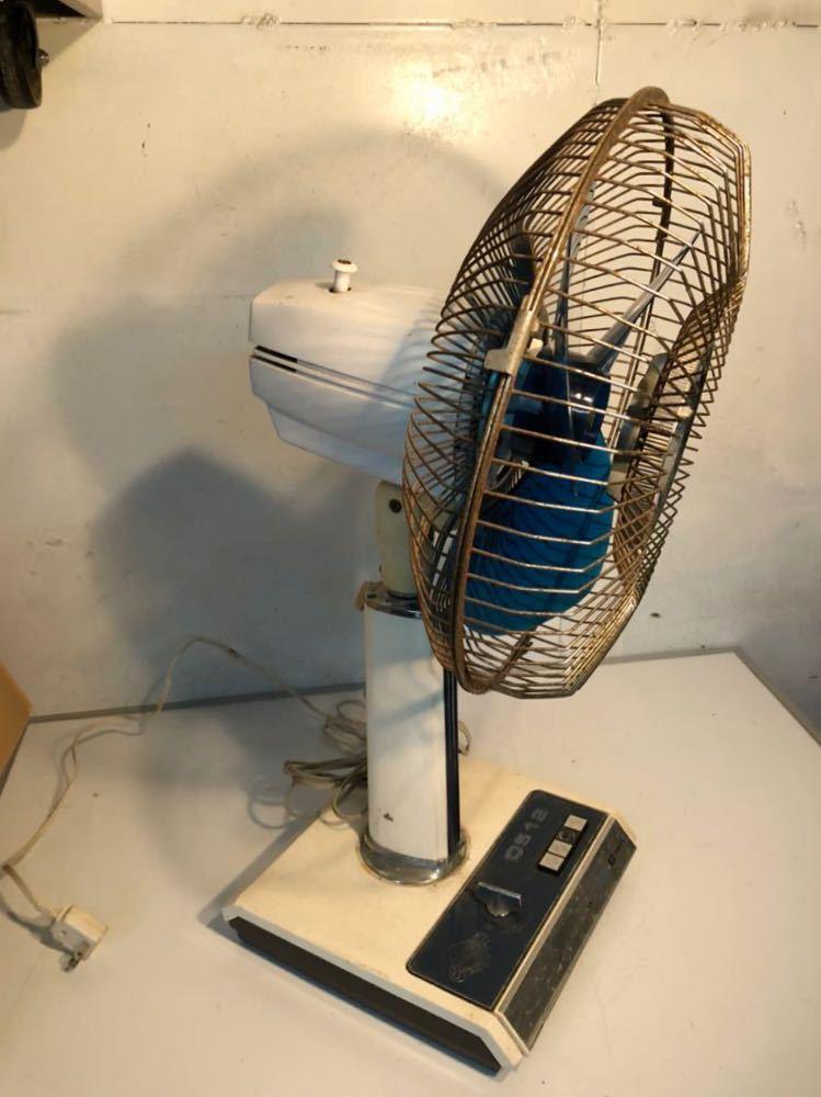 日立 HITACHI H-638型 OS12 さわ風 昭和レトロ レトロ扇風機 当時物 貴重 アンティーク 動作確認済み 現状販売 U-594_画像2